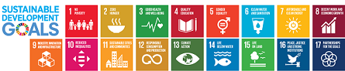 The 17 Sustainable Development Goals.